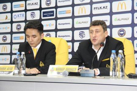 Послематчевый комментарий главного тренера «Кайрата» Кахабера Цхададзе.