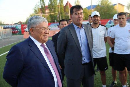 Аким области встретился с футболистами!